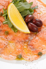 Fish Carpaccio with salad