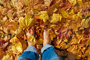 Barfuss im Herbst