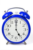 Wecker 5 Uhr / Five a clock  - blau / blue