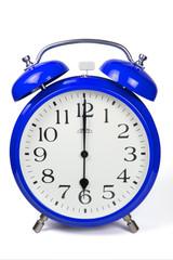 Wecker 6 Uhr / Six a clock  - blau / blue