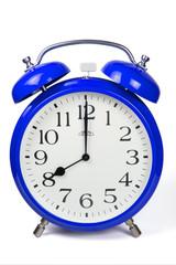 Wecker 8 Uhr / Eight a clock  - blau / blue