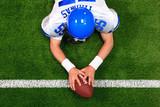 Overhead American football player touchdown