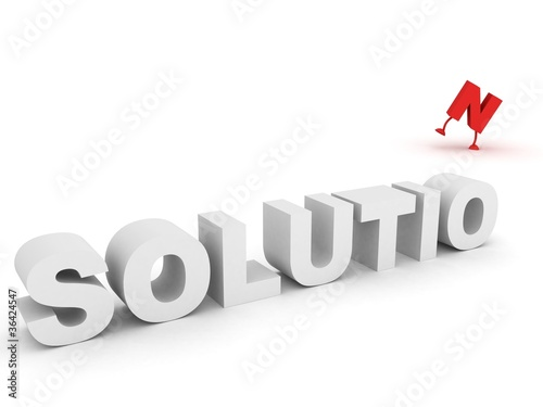 solution of problem.success business concept