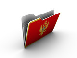 folder icon with flag of montenegro