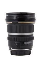 closeup of camera lens, advanced photo equipment