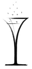 champagne glass sketch