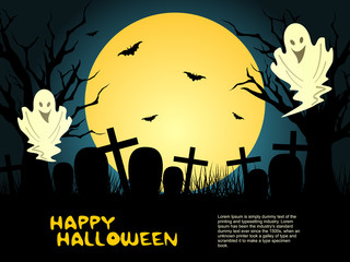 abstract halloween graveyard background