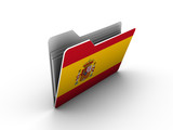 folder icon with flag of spain