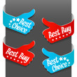 Left and right side signs - Best Buy, Best Choice. Vector.