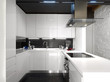 moderna cucina in laminato bianco