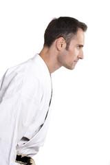 Karate, Verbeugung, Begrüßung, weiß 6