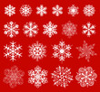 Christmas snowflakes decoration design