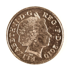 New Style Ten Pence Coin over white