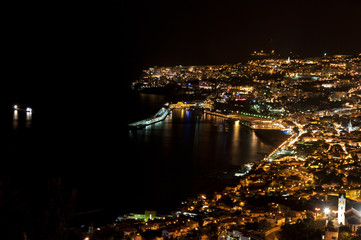 nighttime photo of funchal