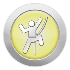 "Light Colored Icon (Yellow) ""Rock Climbing"""