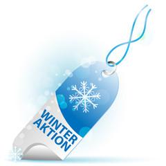 etikette - winter aktion