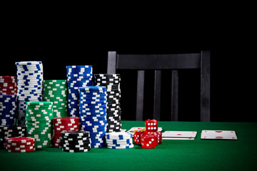 Poker game with empty chair
