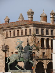 Equestrian statue of Francisco Pizarro in Trujillo