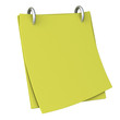 Blank notepaper with clipping path 3d