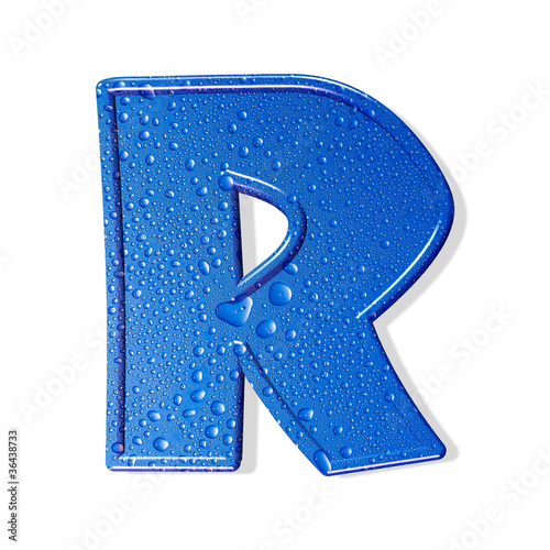 Water alphabet isolated . aqua letter