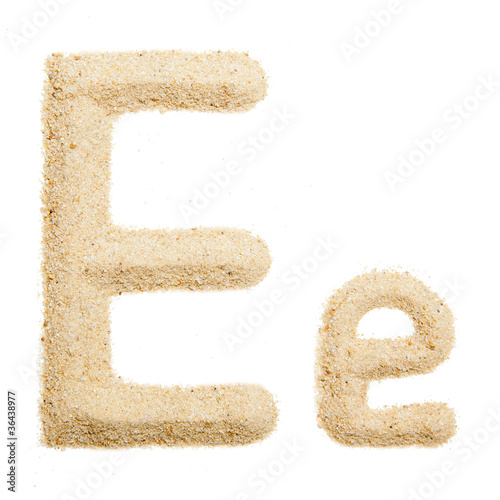 sand alphabet isolated