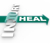 Heal After an Injury Arrow Over Word Recuperation