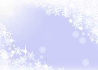 weihnachtlicher Hintergrund - Schnee blau