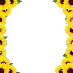 sunflowers photo frame