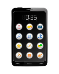 Vector Black Smartphone