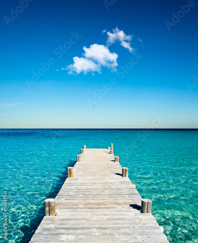 plage vacances ponton bois - 36445541
