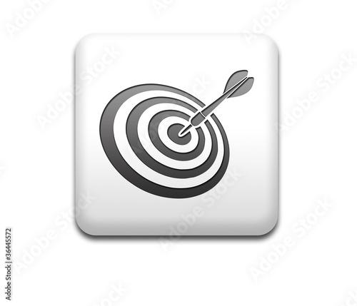 Boton cuadrado blanco simbolo target