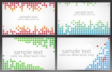 Set of cards. Pixel art. Vector