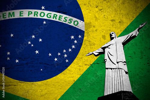 Bandera grunge brasileña