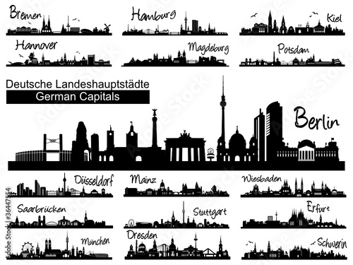 Skylines deutscher Landeshauptstädte