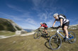 Cycling in the mountain with Blurred Background