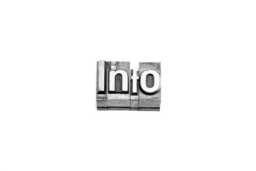 bottone info caratteri tipografici