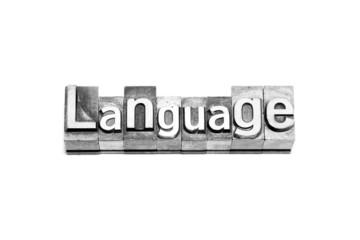 bottone language caratteri tipografici