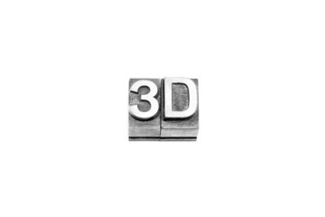 bottone 3d caratteri tipografici