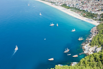 Cleopatra sand beach resort of Turkey Alanya