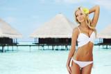Fototapety woman on tropical beach