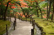 Japan in autumn (garden of Ginkaku ji temple, Silver Pavilion)