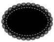 Lace Doily Place Mat, Black Oval