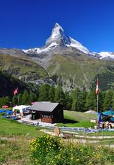 Matterhorn peak and a chalet