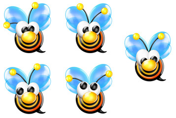 Bullseye Bee with Nose Looking Sheet