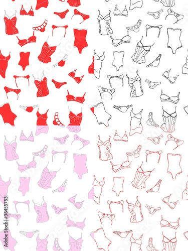 seamless patterns with underwear