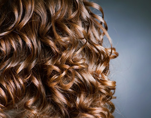 Curly Hair. Hairdressing