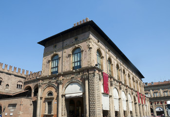 Palazzo in the Main Square of Bologna Italy