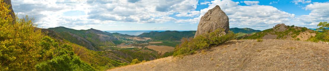 Панорама Крым район Судака