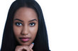 Elegant ethnic woman face closeup