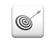 Boton cuadrado blanco simbolo tiro con arco